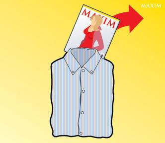 Фото №4 - Как сложить рубашку с помощью журнала