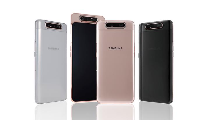 Фото №1 - Samsung представил смартфон с A80 с вращающейся тройной камерой