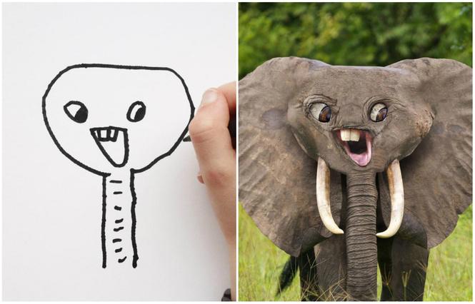 Отец воссоздает в фотошопе рисунки детей