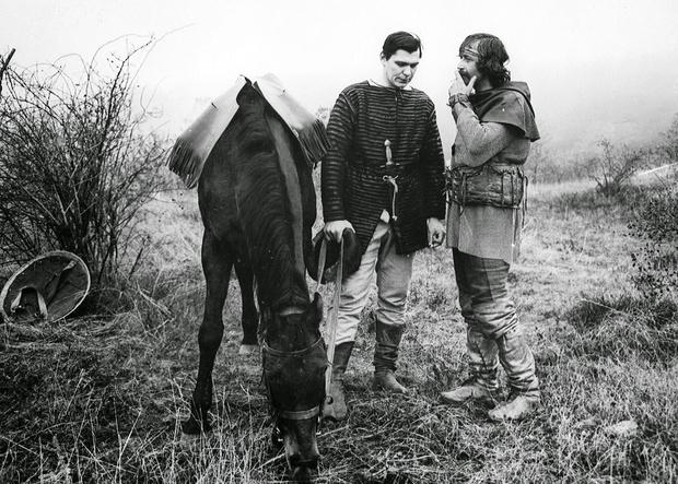 Василий Ливанов на съемках «Ярославна, королева Франции», 1976
