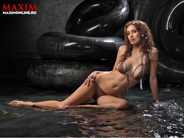 Ольга Козобина в журнале Maxim
