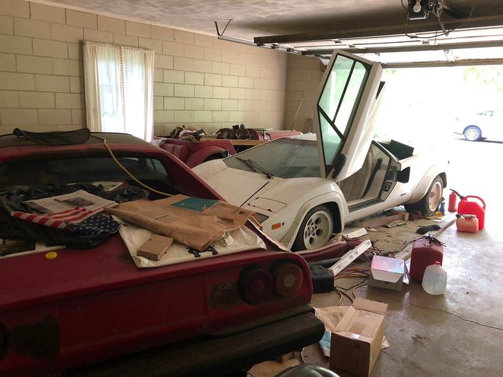 Фото №1 - Девушка нашла у бабули в гараже редкий Lamborghini, пылившийся там лет двадцать (фото прилагаются)