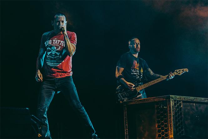 Linkin Park на выступлении в Москве, в Олимпийском, 29 августа 2015