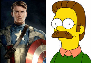 Капитан Америка отрастил себе подозрительные усы, и Интернет обозвал его Недом Фландерсом!