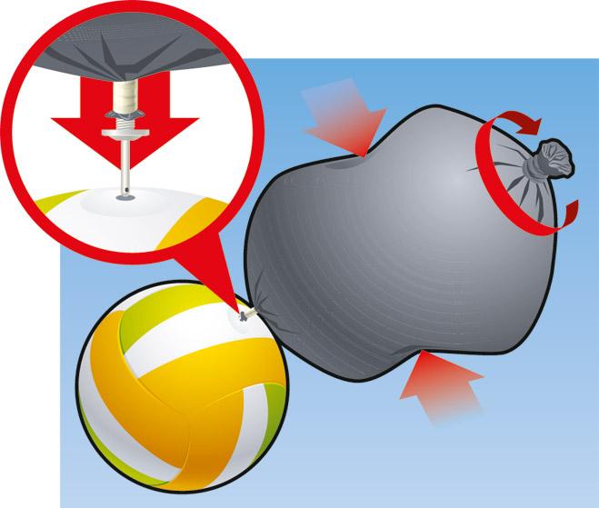 Фото №1 - Идея! Накачать мяч мешком для мусора