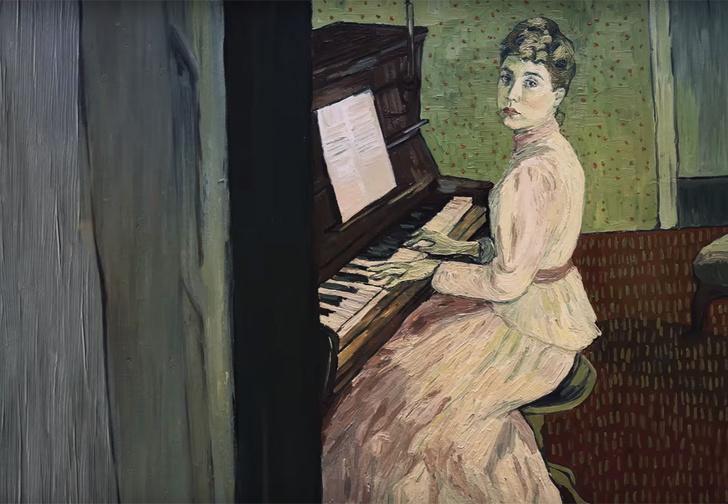 Фото №1 - Трейлер фильма «С любовью, Винсент», нарисованный масляными красками в стиле Ван Гога