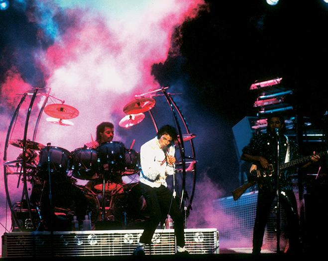 Майкл Джексон во время выступления