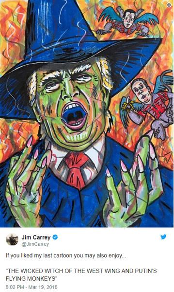 Трамп в образе ведьмы Бастинды и летающие Обезьяны Путина