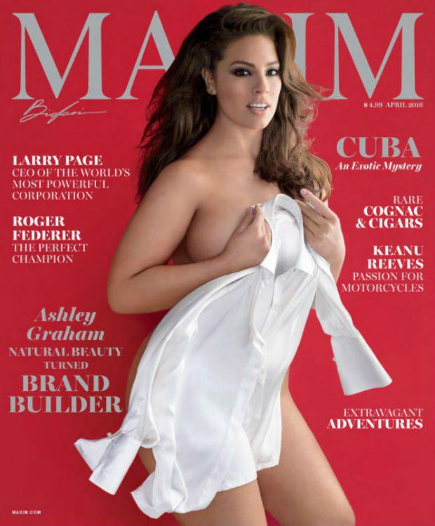 Фото №1 - Топ-модель 54-го размера Эшли Грэм снялась для американского MAXIM!