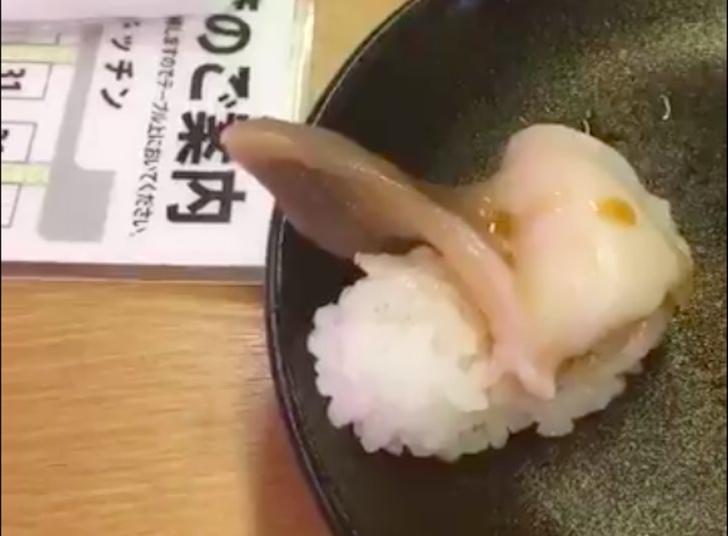 Фото №1 - Как выглядят по-настоящему свежие суши (ВИДЕО)