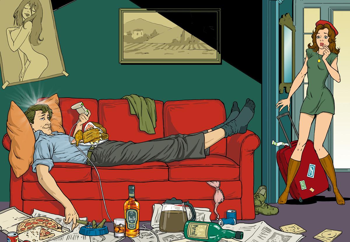 Женщина лежит на кровати а мужчина руками играет с грудью, порно толпой в глотку