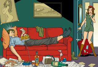 Ученые доказали, что лежать на диване, ругаться и есть жирное — полезно, а убираться и часто мыться — вредно