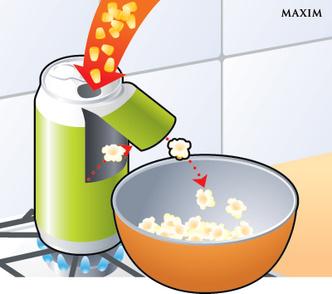 Фото №3 - Как сделать попкорн-машину из алюминиевой банки