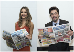 Новая порция фотографий голливудских звезд с газетой «Копейский рабочий»