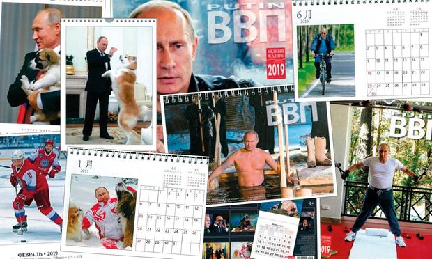 Фото №1 - Один из популярных рождественских подарков в Японии — календарь с Владимиром Путиным