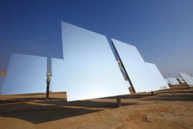 Зеркальные панели солнечной электростанции