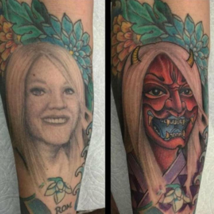Фото №11 - 10 попыток исправить татуировки с именами и лицами бывших