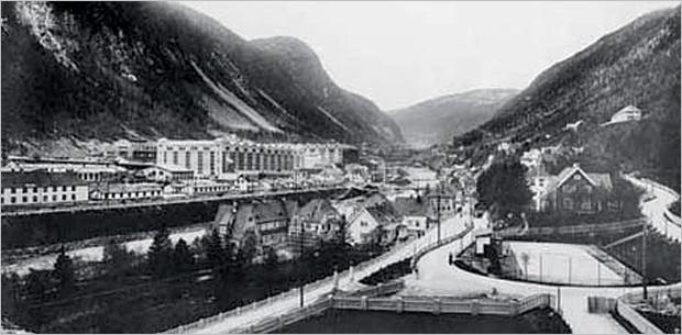 Вид на Рьюкан. 1920-е годы