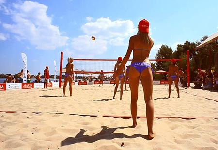 Чемпионат по бикини-волейболу MAXIM