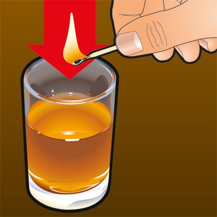 Подожги алкоголь