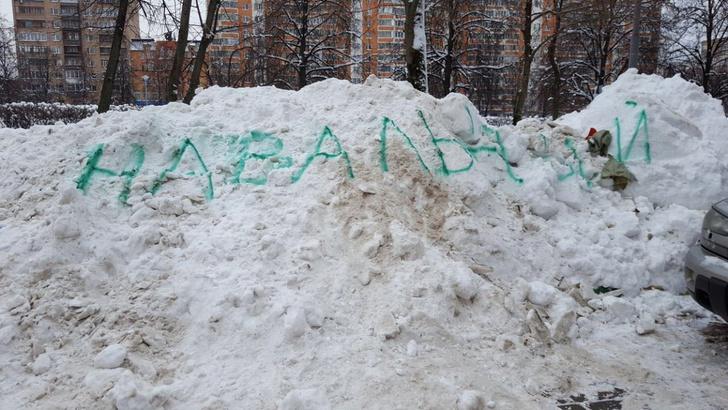 Фото №1 - Лайфхак: как убрать снег при помощи Навального