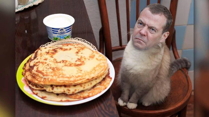 Фото №11 - Избранные шутки о грустном Медведеве под дождем