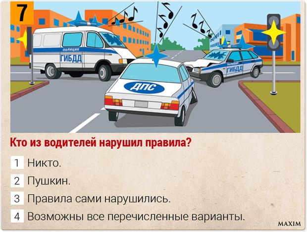 Кто из  водителей нарушил правила?