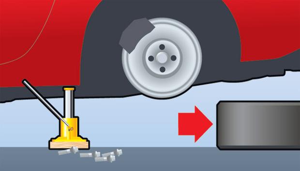 Поменять колесо