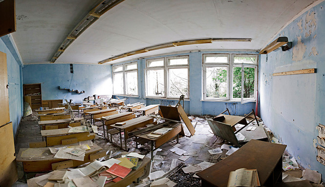 В одной из школ Припяти
