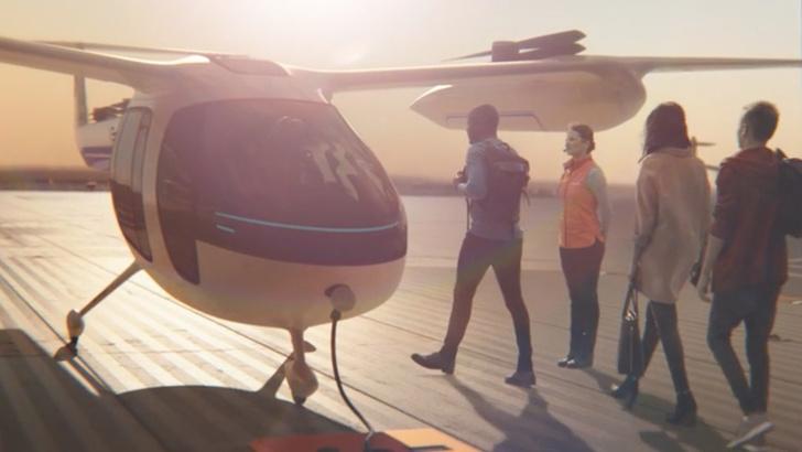 Фото №1 - Uber показал концепт летающего такси, а Lyft начал эксплуатацию беспилотных