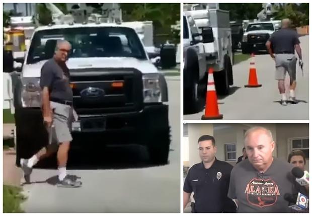 Фото №1 - Пенсионер прострелил колеса грузовика, загородившего ему выезд (Видео!)