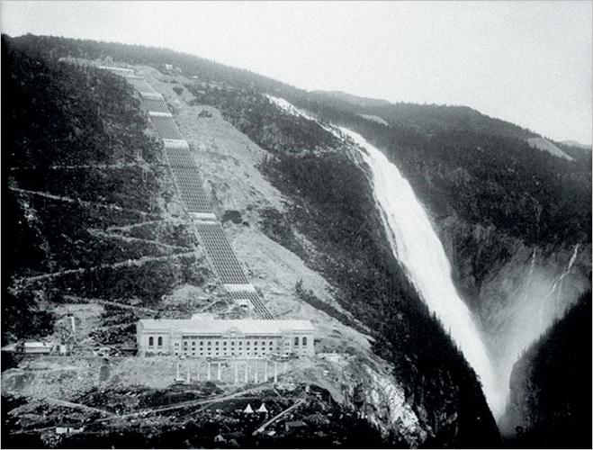 Завод «Норск Гидро» находился на живописной скале