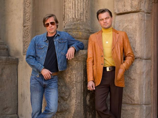 Фото №3 - В Сеть попал неотретушированный кадр с Ди Каприо и Брэдом Питтом