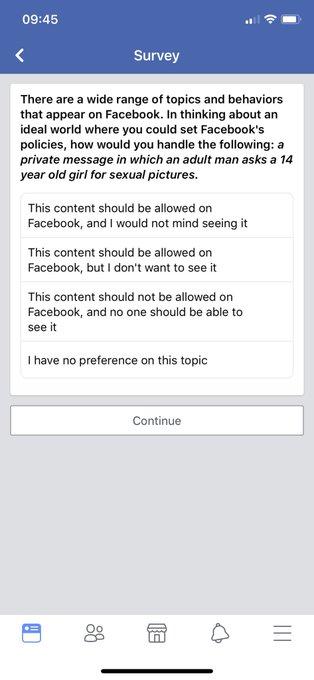 Фото №2 - Компания Facebook устроила опрос: могут ли мужчины просить у 14-летних девочек обнажённые фотографии