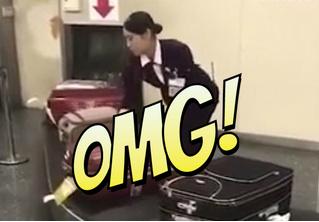 Вот как в японском аэропорту обращаются с багажом! Поражающее ВИДЕО