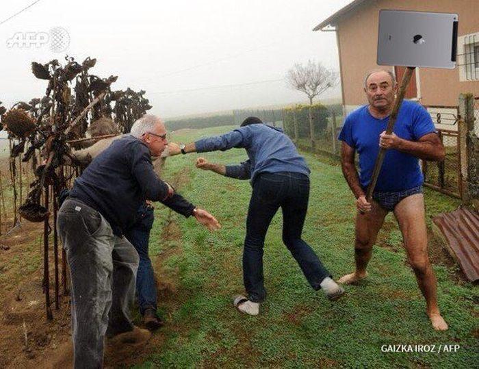 Фото №9 - Герой Интернета: мужик с лопатой и в трусах