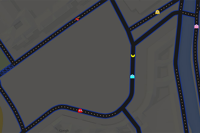 Фото №3 - Вака-вака в городе! На Google maps теперь можно поиграть в Pac-Man