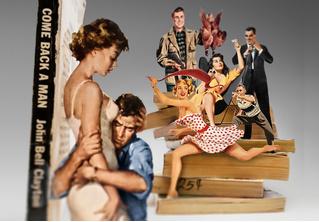 Красота резни: обложки бульварных книжек превратились в скульптуры