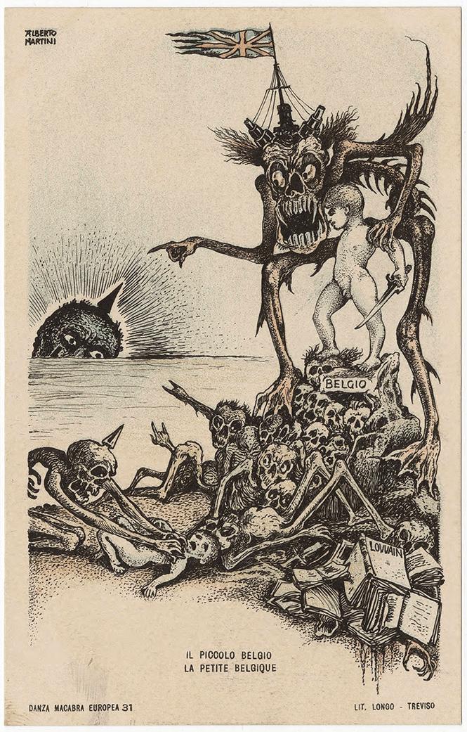Фото №12 - Жутковатые карикатуры Первой мировой