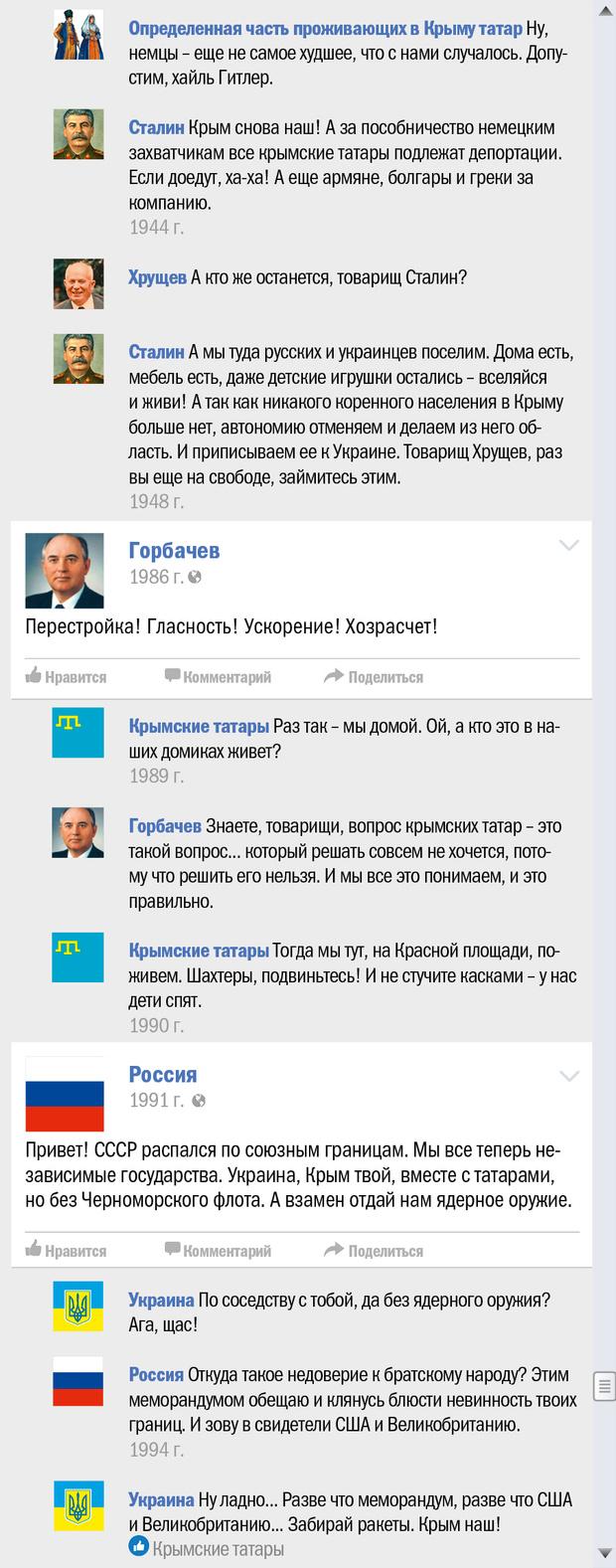 Фото №12 - Крым чей? Правдивая история Крыма в виде ленты «Фейсбука»