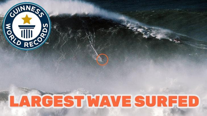 Фото №1 - Рекорд Гиннесса в сёрфинге: самая высокая волна (ВИДЕО)