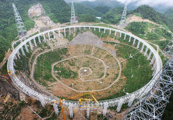 китае строят самый большой мире телескоп