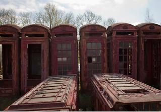 Кладбище телефонных будок в Северном Йоркшире
