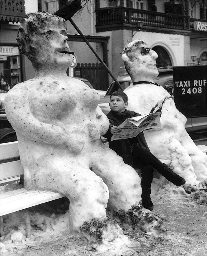 Фото №1 - 6 идей, которые помогут превратить снеговика в произведение искусства
