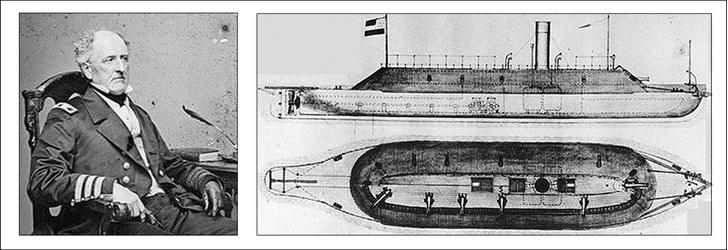 Капитан «Мерримака» Фрэнклин Бьюкенен. «Мерримак». Редкий чертеж 1862 года