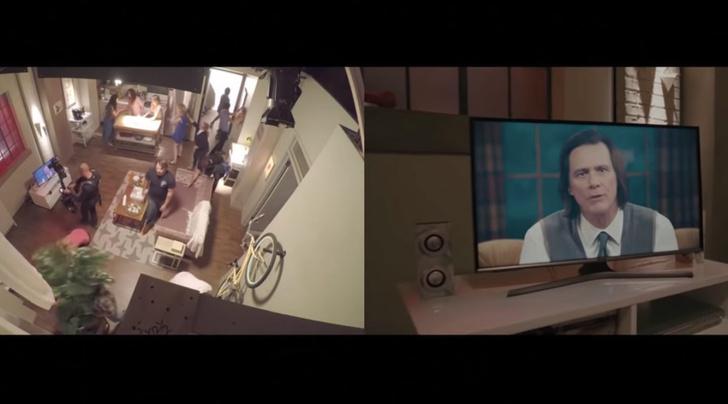 Фото №2 - Завораживающее видео со съемок нового сериала с Джимом Керри