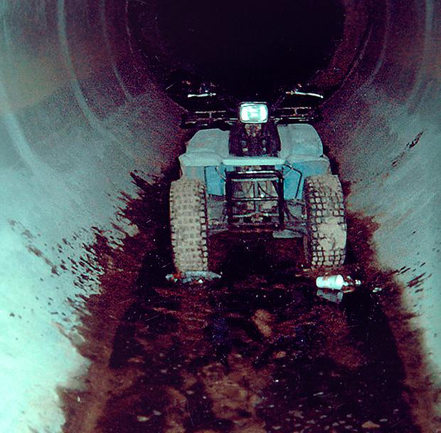 Квадроцикл в тоннеле возле казино
