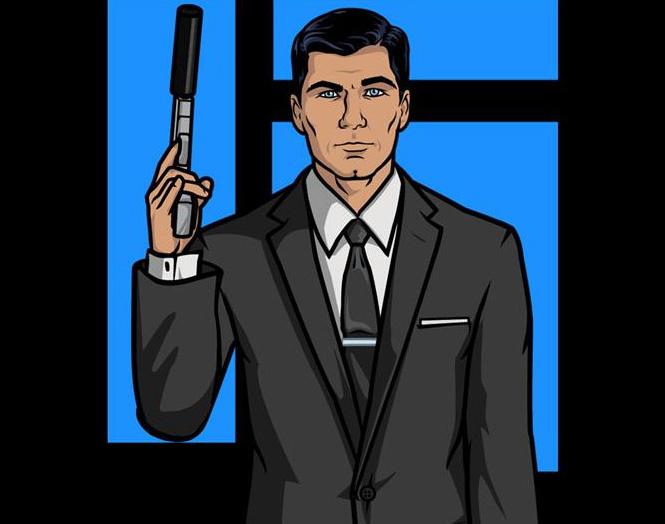 Серый костюм-двойка, дополненный черным галстуком