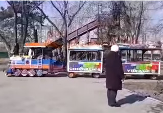 В Омске детский паровозик катался по парку под Rammstein и прославился на всю страну (видео)