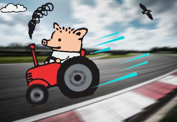 Фото №1 - Британец разогнал трактор до 167 км/ч (видео)